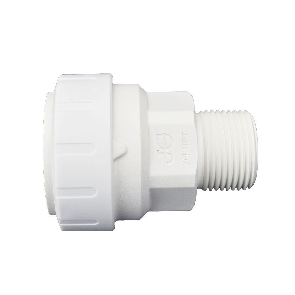 1 in. x 3/4 in. Plastic Push-to-Connect Male Connector Contractor Pack