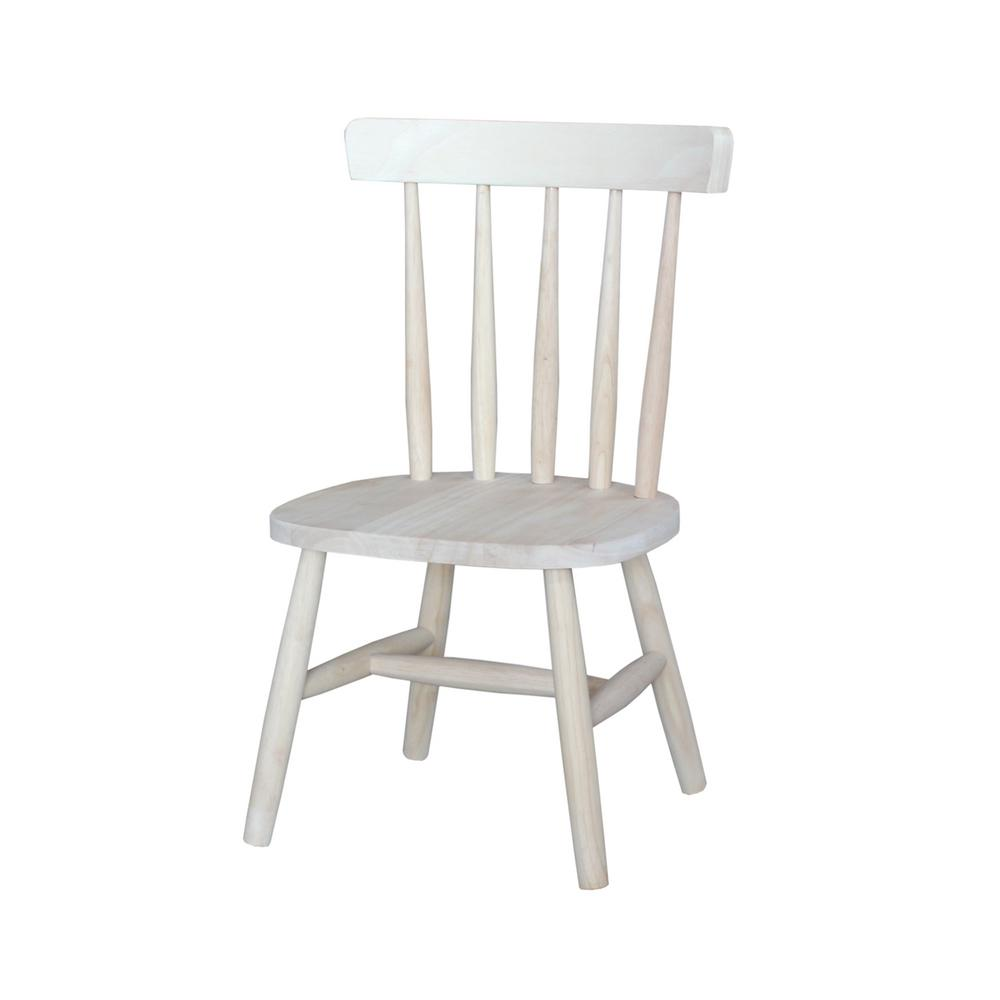 International Concepts Unfinished Wood Kids Chair (Set Of 2)