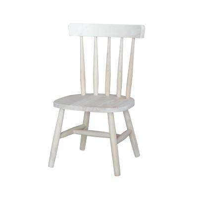 Unfinished Wood Kids Chair (Set of 2)