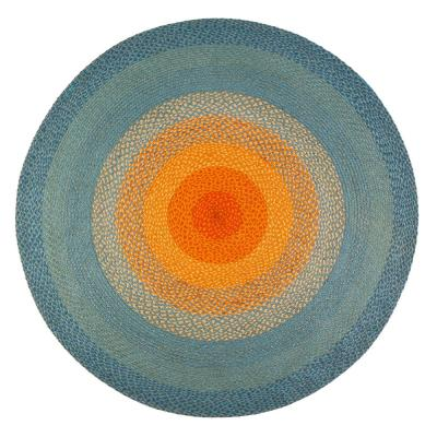 Olwyn Braided Multi-Colored 8 ft. Round Area Rug