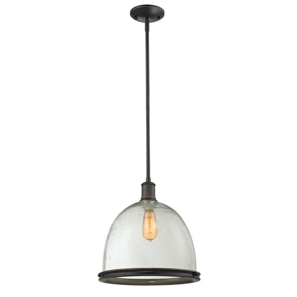 Filament Design Warren 1-Light Olde Bronze Pendant-CLI-JB