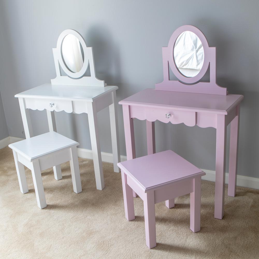 Vivian 2-Piece White Vanity Set