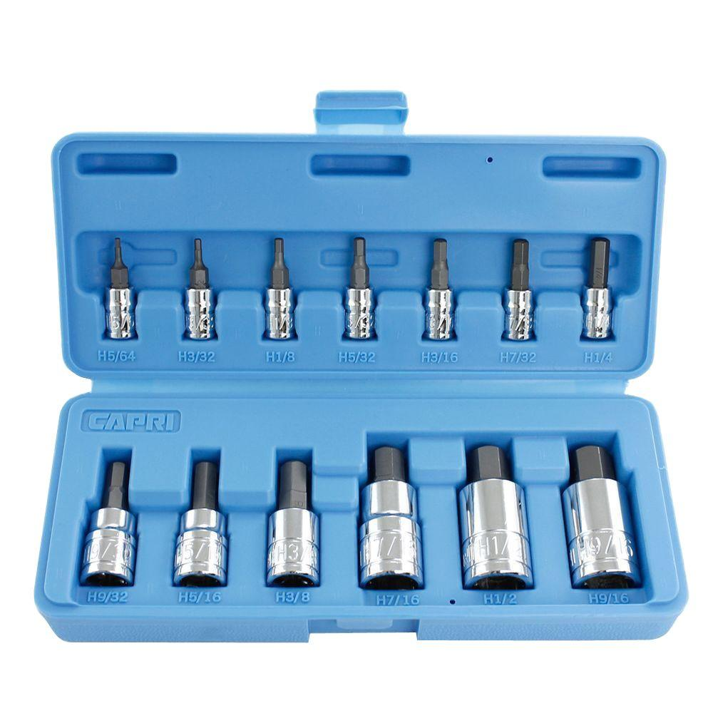 SAE Hex Bit Socket Set (13-Piece)