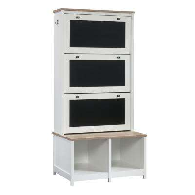 Cottage Road Soft White Entryway Storage Cabinet