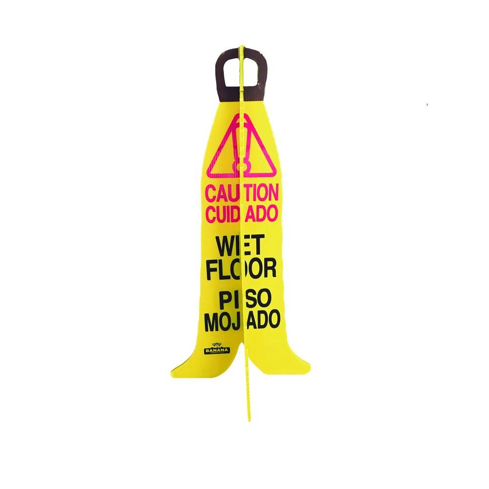 X-Frame Caution Wet Floor Sign (6-Pack)