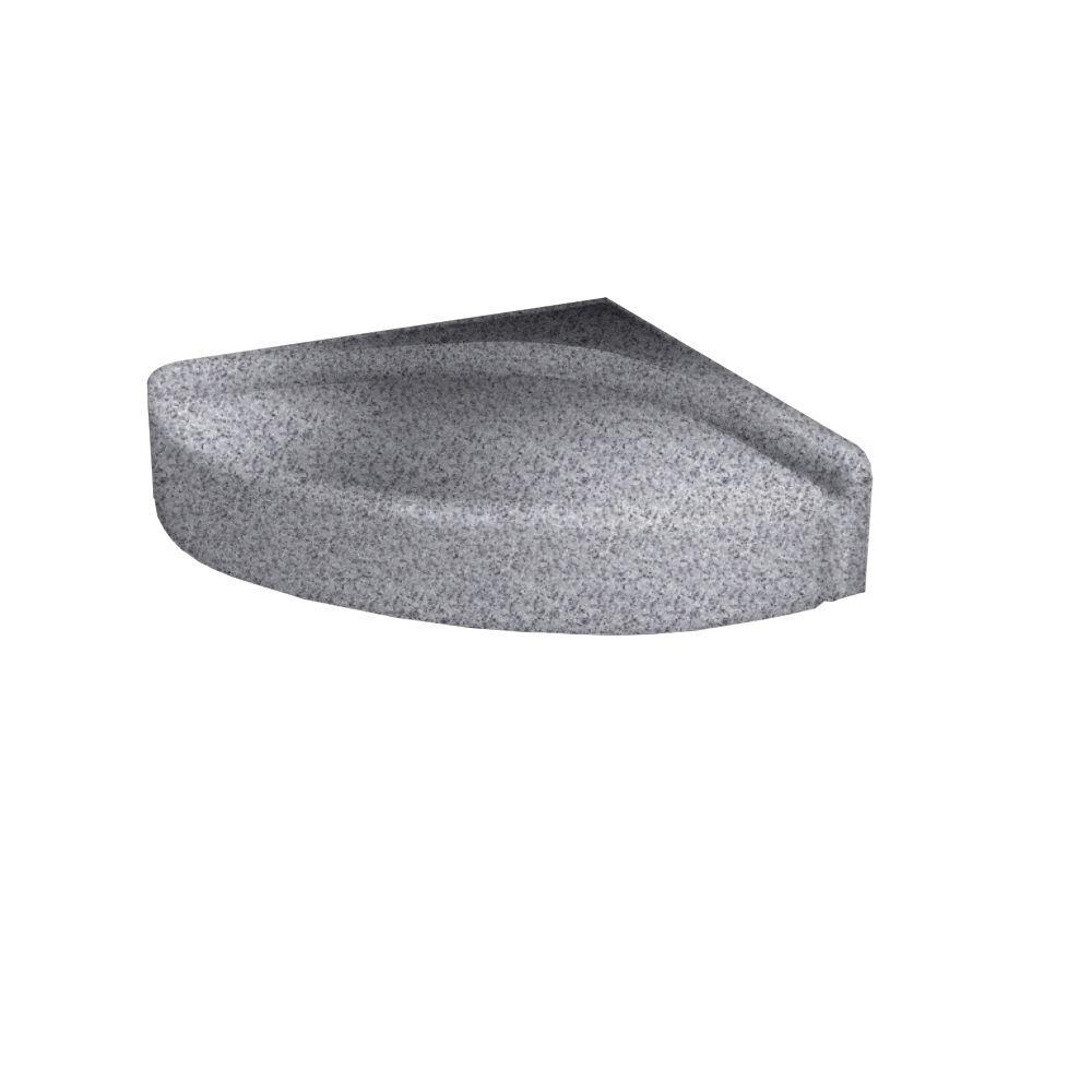 4 in. H Shower Seat in Gray Granite