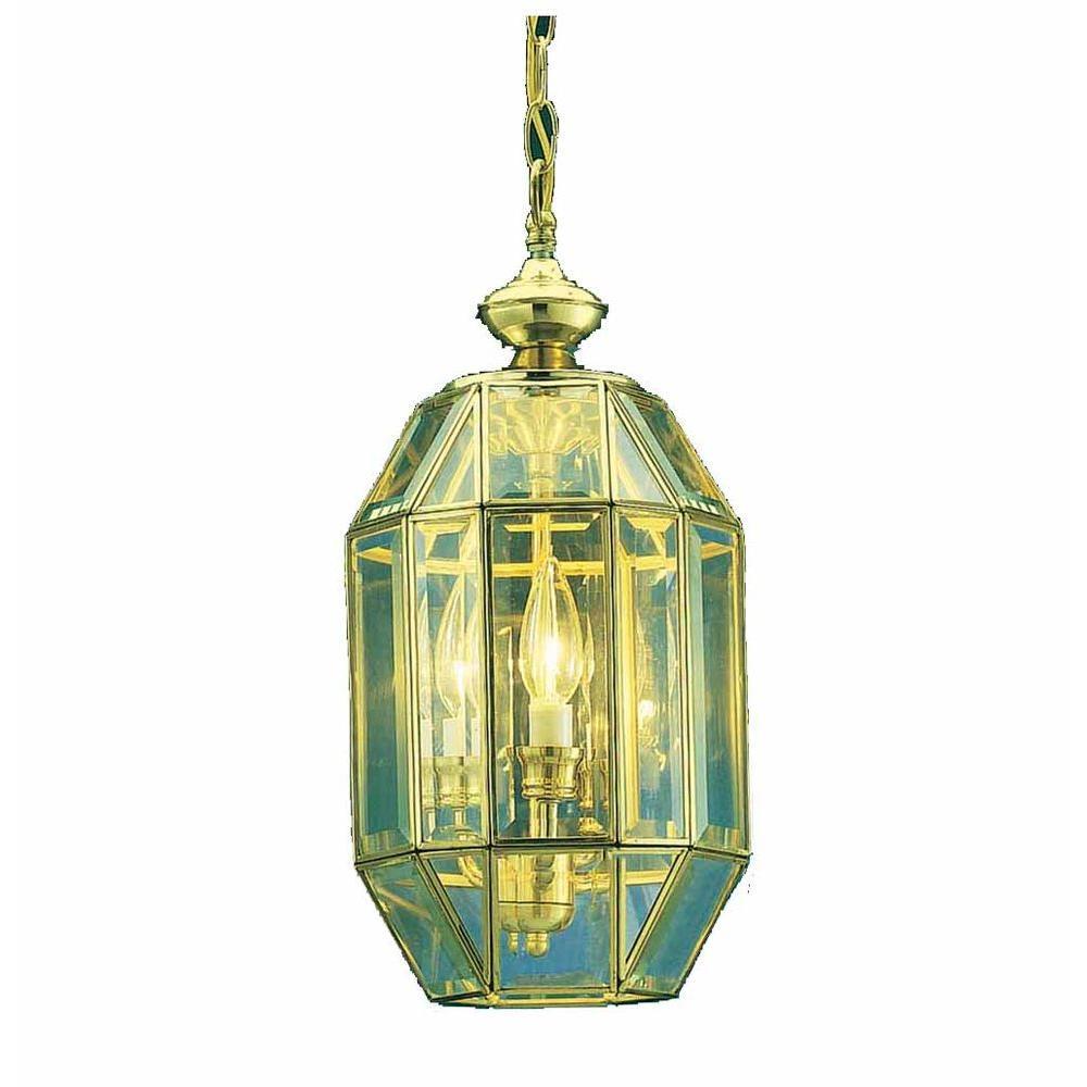 Filament Design Lenor 3-Light Polish Brass Incandescent Ceiling Chandelier