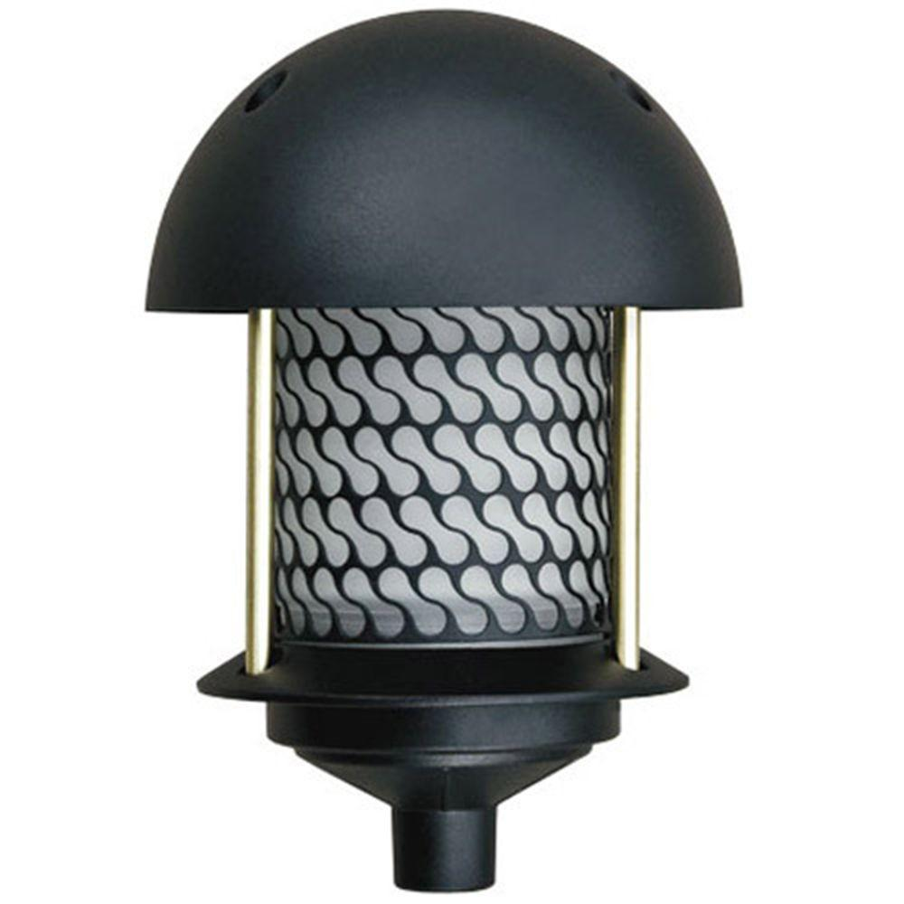 Corbin 1-Light Black Round Top Outdoor Pagoda Pathway Light