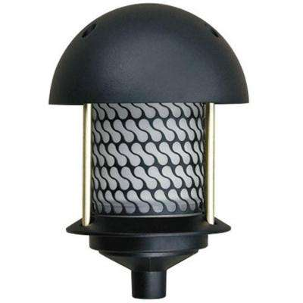 Corbin 1-Light Black Round Top Outdoor Pagoda Pathway Light