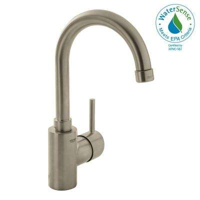 Concetto Single Hole Single-Handle High-Arc Bathroom Faucet in Nickel Infinity Finish
