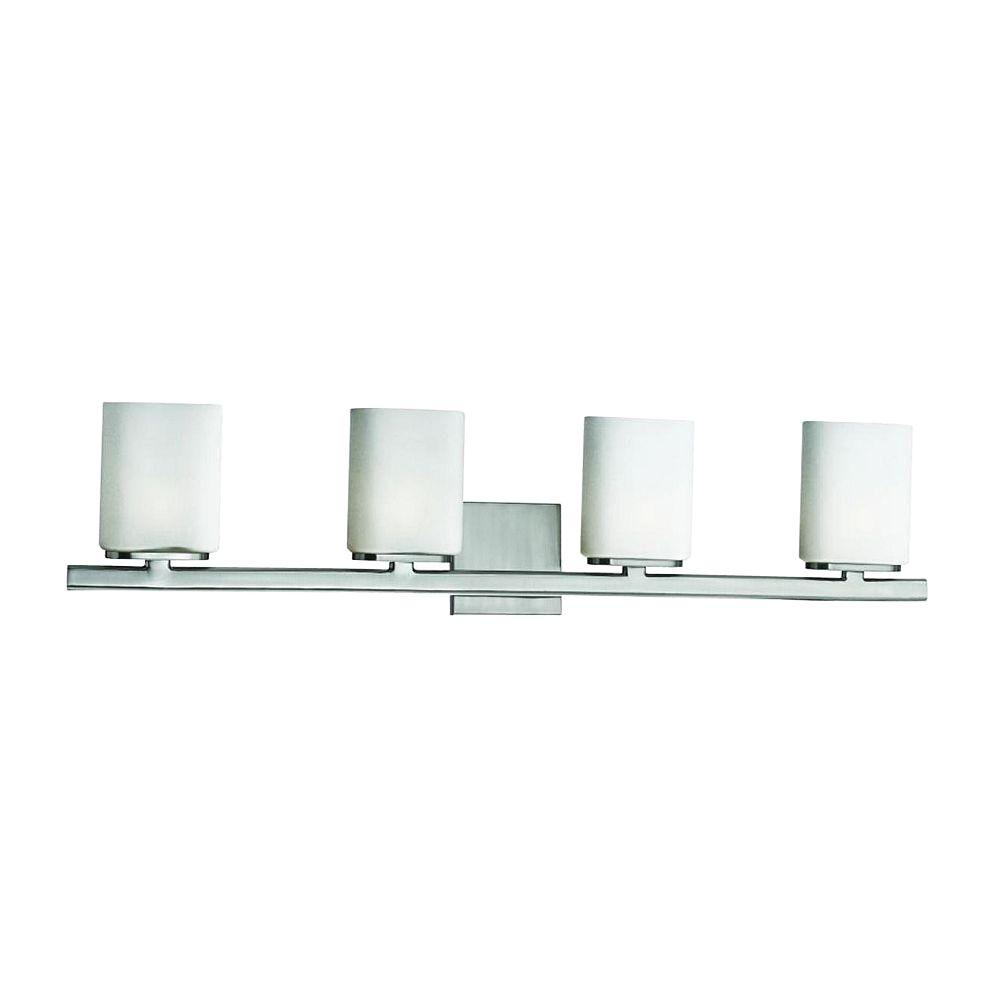 Dolante Collection 4-Light Satin Nickel Bath Bar Light