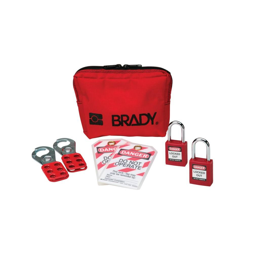 Brady Personal Padlock Pouch with Safety Padlocks