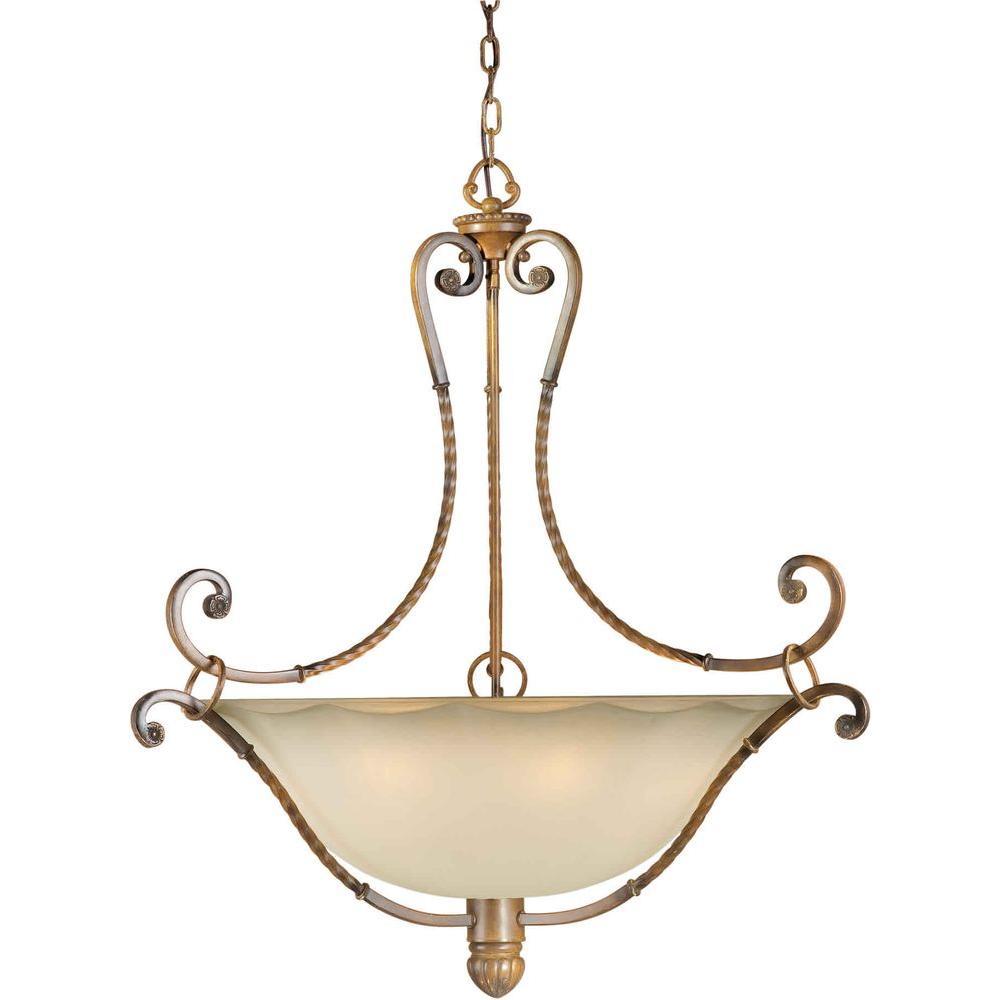 Burton 6-Light Rustic Sienna Incandescent Pendant