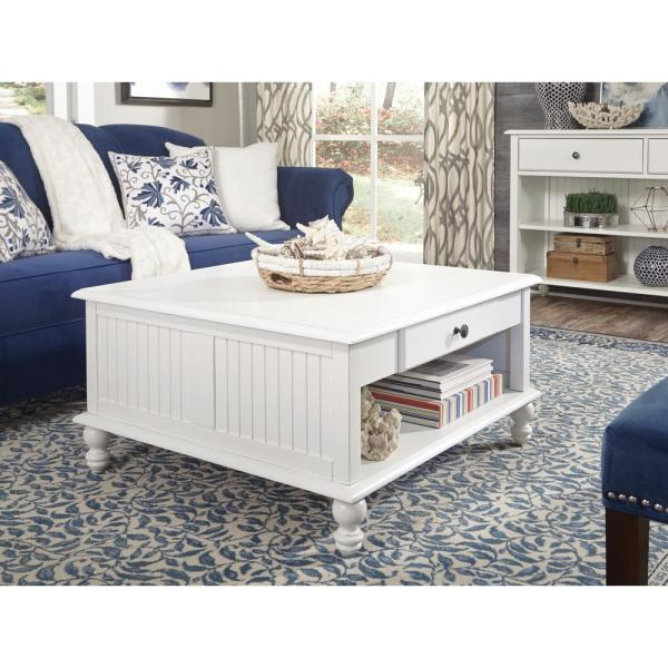 International Concepts Cottage Beach White Square Coffee Table OT07 ...