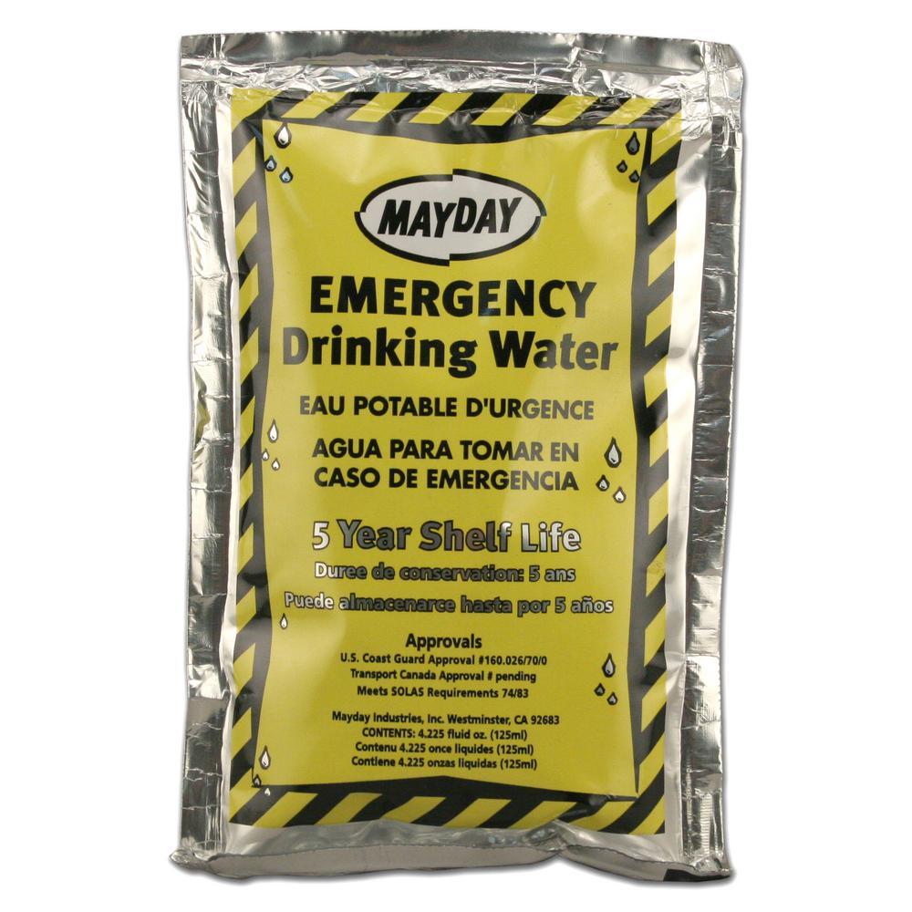 4.225 oz./125 ml. Emergency Drinking Water (100-Pack)