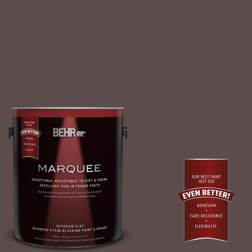 BEHR MARQUEE 1-gal. #MQ1-43 Piano Brown Flat Exterior Paint