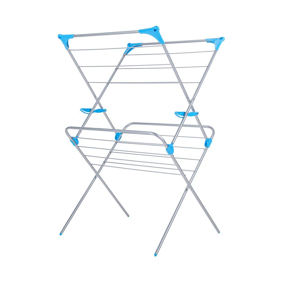 2-Tier Indoor Drying Rack - Silver