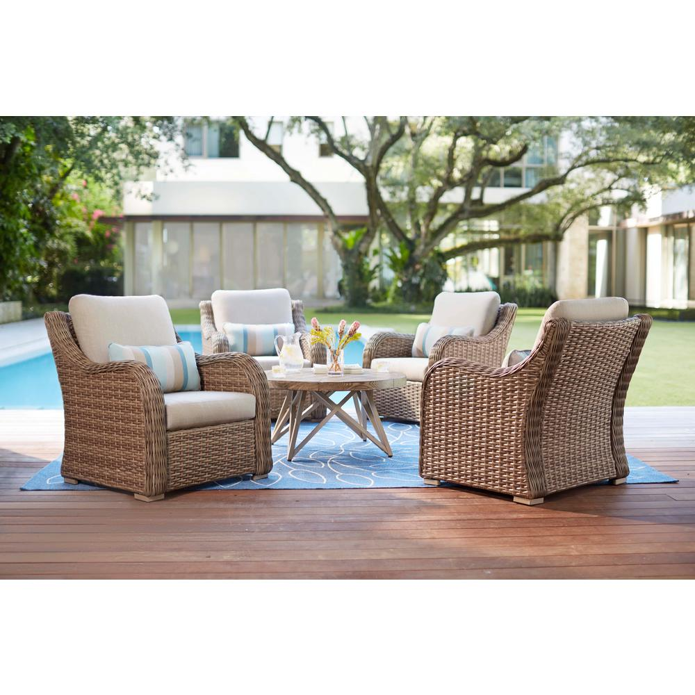 Home Decorators Wicker Deep Seating Set Cast Ash Cushions