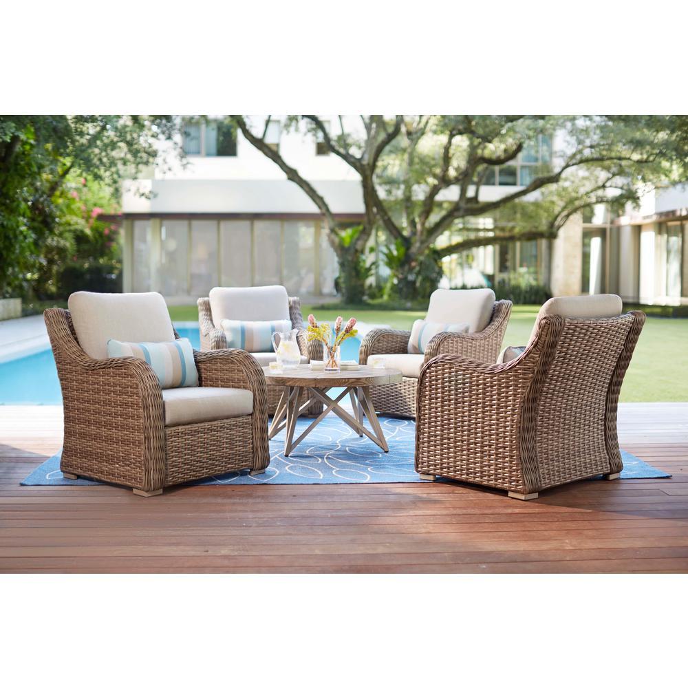 Home Decorators Wicker Deep Seating Set Cast Ash Cushions