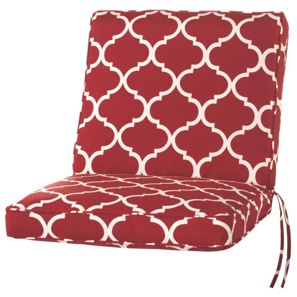 22 x 20 Outdoor Dining Chair Cushion in Standard Cherry
