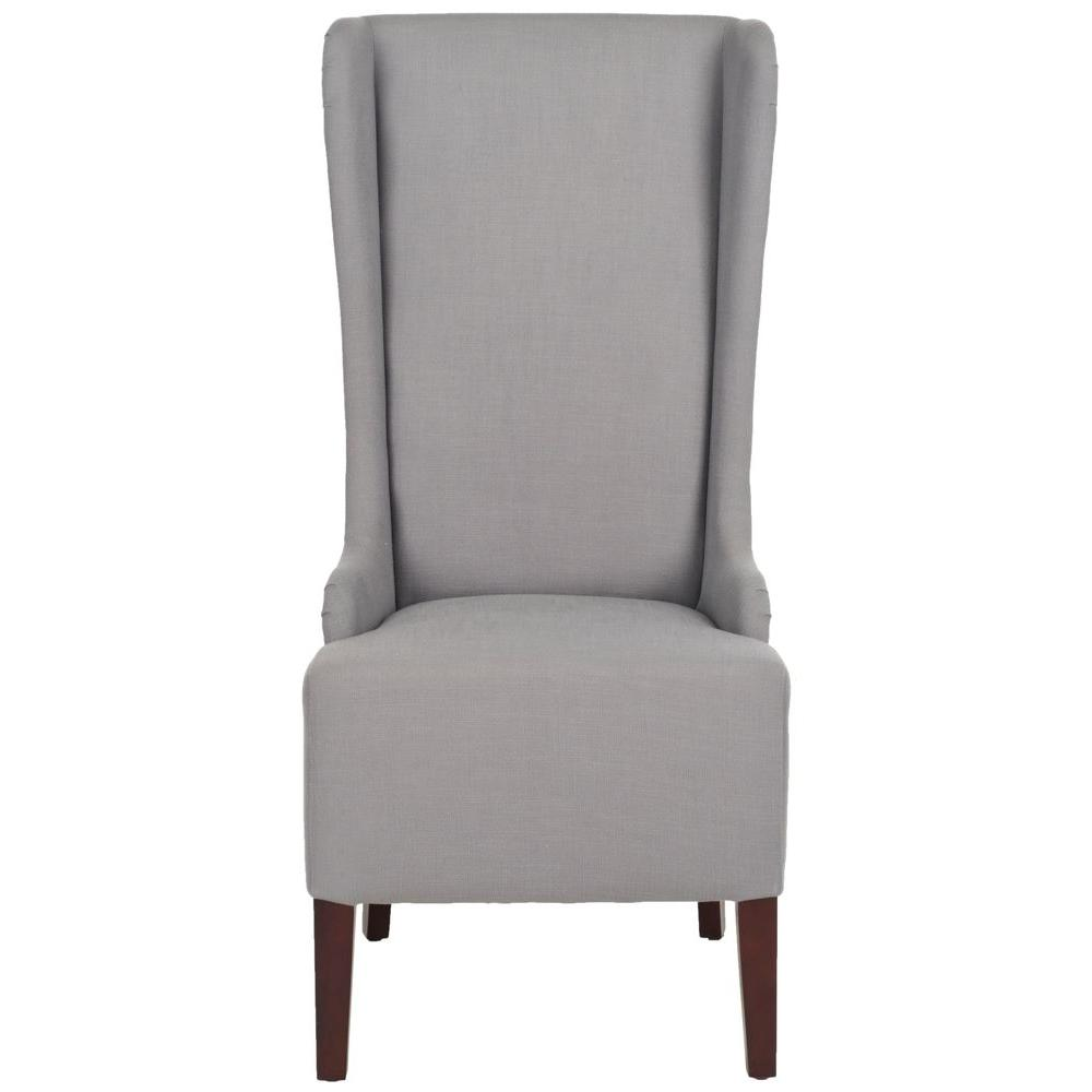 Good Safavieh Bacall Arctic Grey Cotton Blend Dining Chair