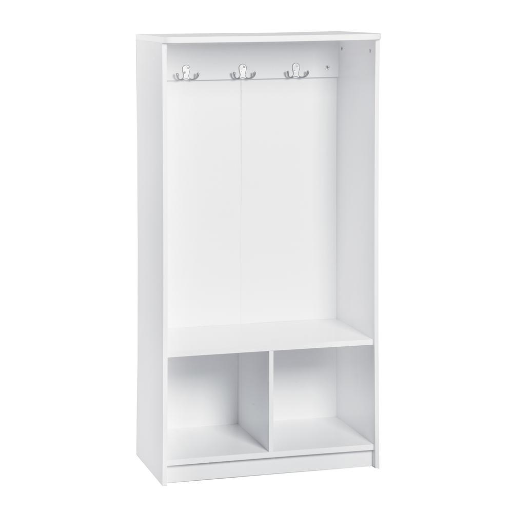 KidSpace 24 in. x 50 in. H White 2-Cube 3-Hook Storage