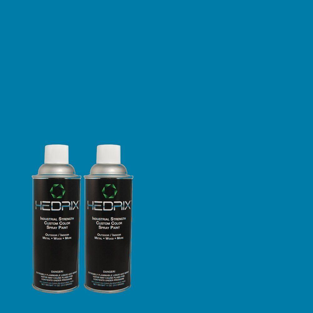 Hedrix 11 oz. Match of S-G-540 Song Bird Gloss Custom Spray Paint (2-Pack)
