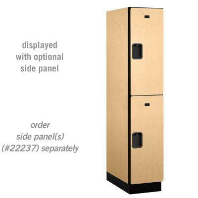 22000 Series Double-Tier 24 in. D 2-Compartments Extra Wide Designer Particle Board Locker in Maple
