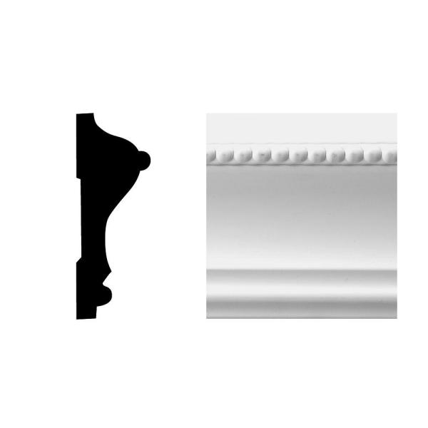 Creations Series 6615 11/16 in. x 2-5/8 in. x 8 ft. PVC Composite White Chair Rail Moulding