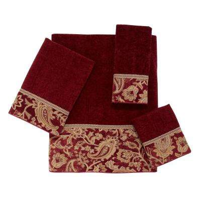 Arabesque 4-Piece Bath Towel Set in Brick
