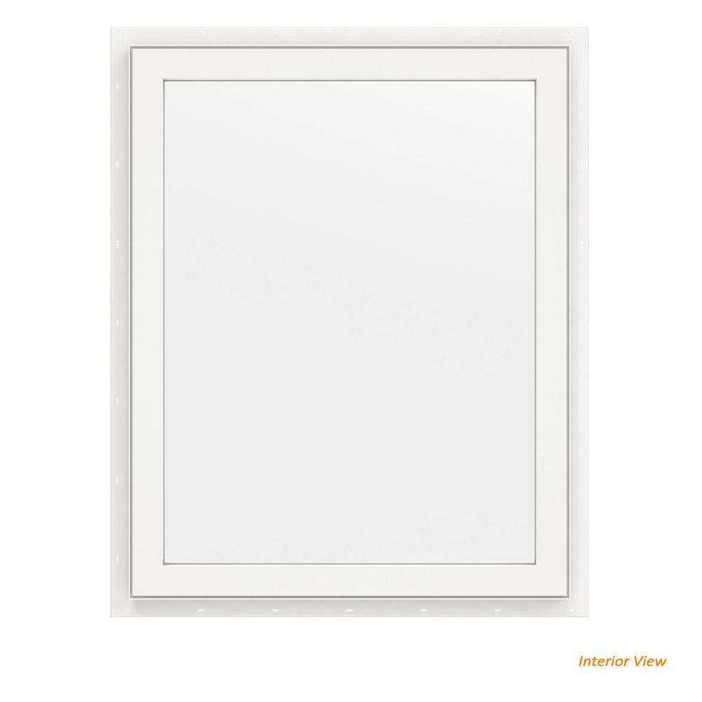 23.5 in. x 29.5 in. V-2500 Series White Vinyl Picture Window
