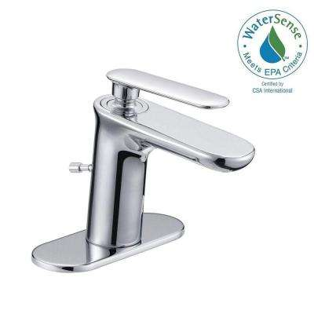 4 in. Centerset Carmine 1-Handle High-Arc Mono Block Bathroom Faucet in Chrome