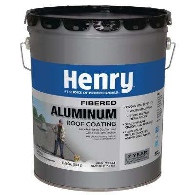 4.75 Gal. 555 Premium Aluminum Reflective Roof Coating (16-Piece)