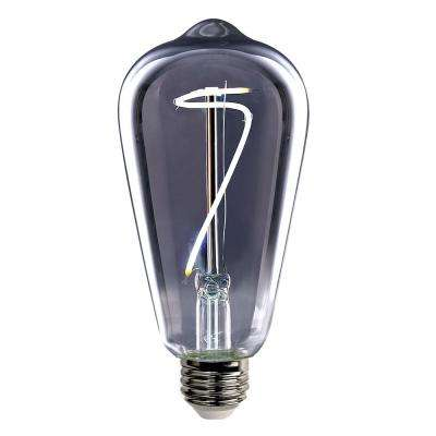 40-Watt Equivalent ST19 Dimmable LED Smoke Vintage Style Light Bulb Daylight