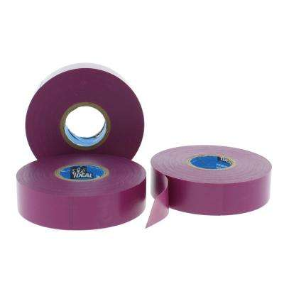 Wire Armour 3/4 in. x 66 ft. Premium Vinyl Tape, Violet (10-Pack)