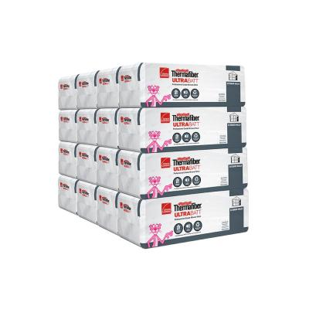 R-30 Thermafiber UltraBatt Unfaced Mineral Wool Insulation Batt 23in. x 47in. (16-Bags)