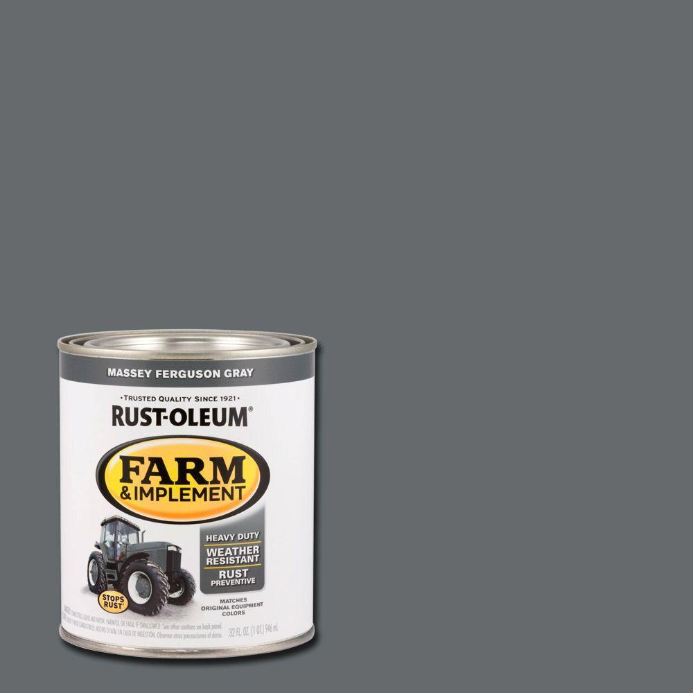 1 qt. Farm & Implement Massey Ferguson Gray Enamel Paint (2-Pack)