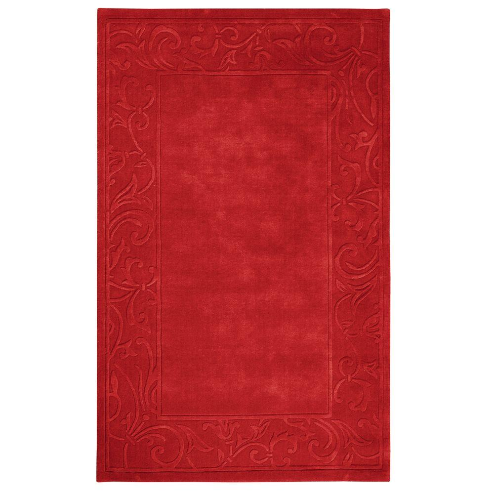 Home Decorators Collection Cyrus Red 2 ft. 6 in. x 4 ft. 6 in. Accent Rug