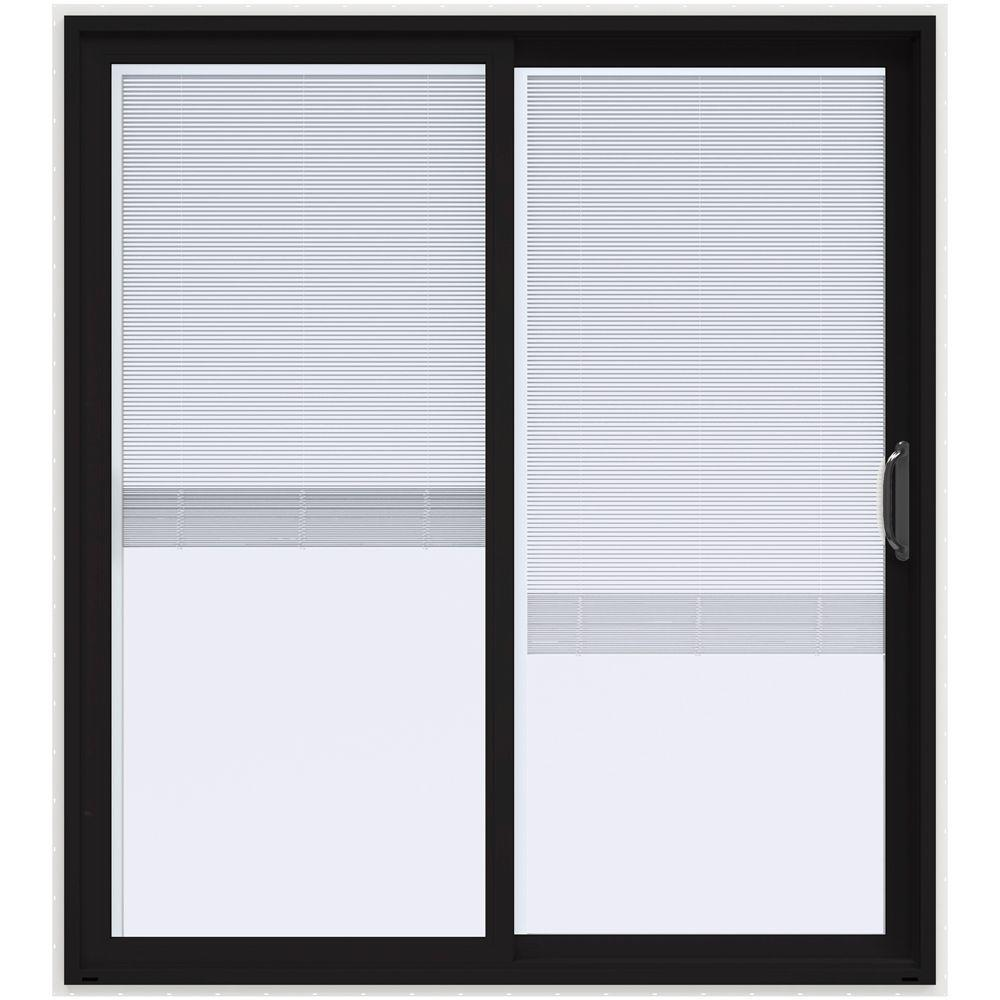 72 in. x 80 in. V-4500 Black Prehung Right Hand Sliding