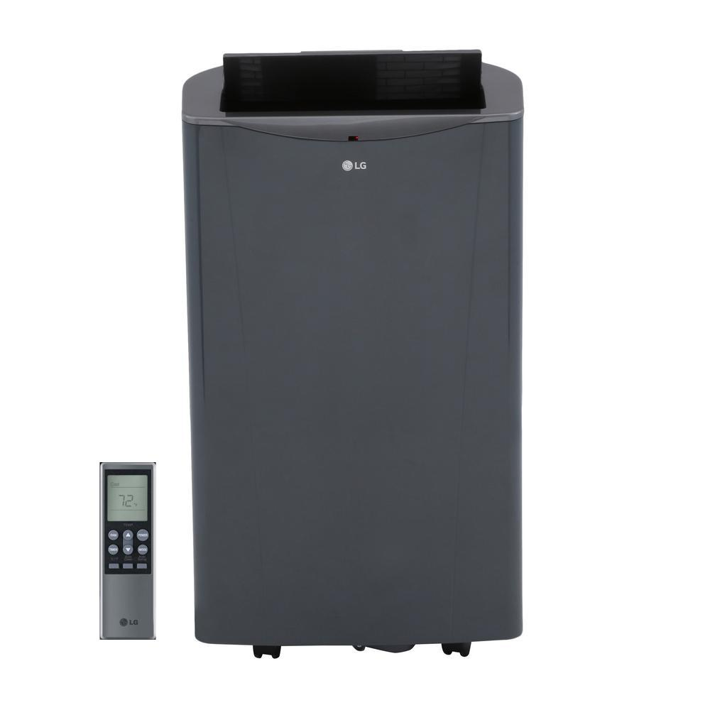 LG Electronics 14,000 BTU Portable Air Conditioner and Dehumidifier  Function with Remote in Graphite Gray