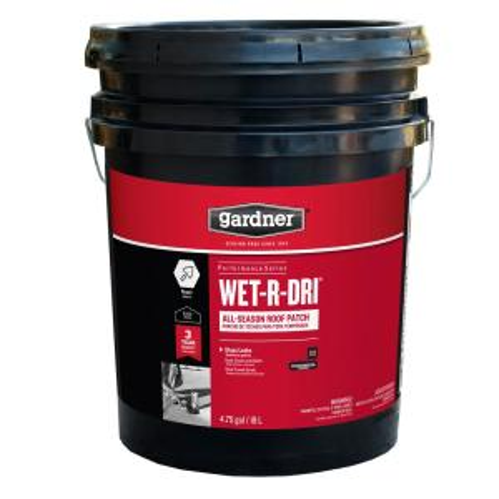 Gardner 4 75 Gal Wet R Dri All Season Roof Patch 0375 Ga