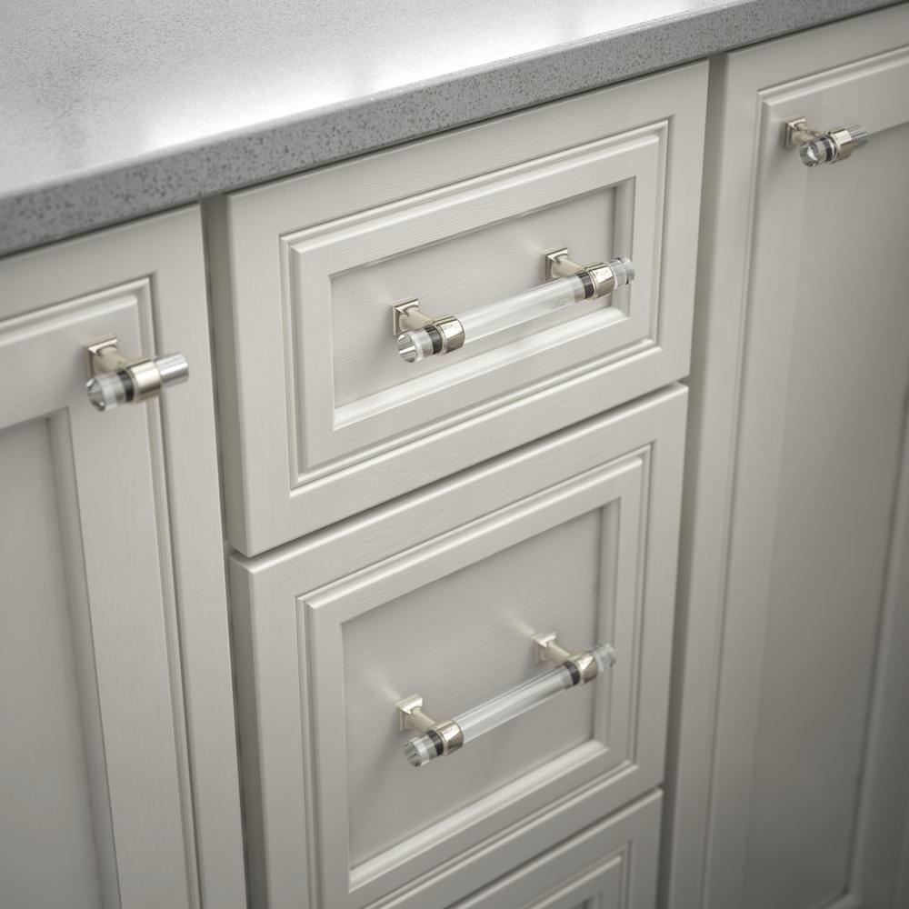 8 Clear Glass Cabinet Pulls Drawer Handles Hardware for Furniture Restoration