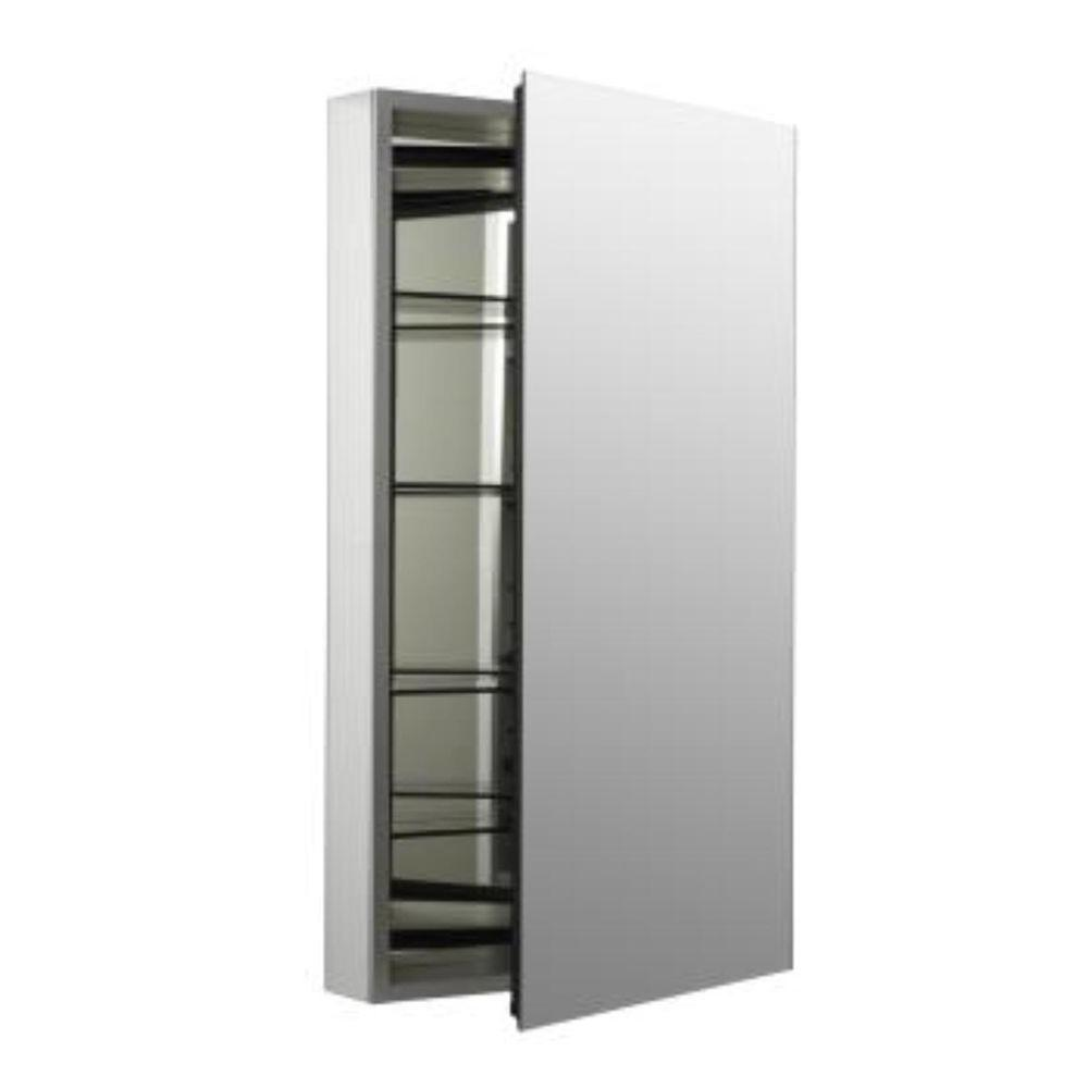 Catalan 20-1/8 in. W x 36 in. H Aluminum Single-Door Surface-Mount Medicine Cabinet
