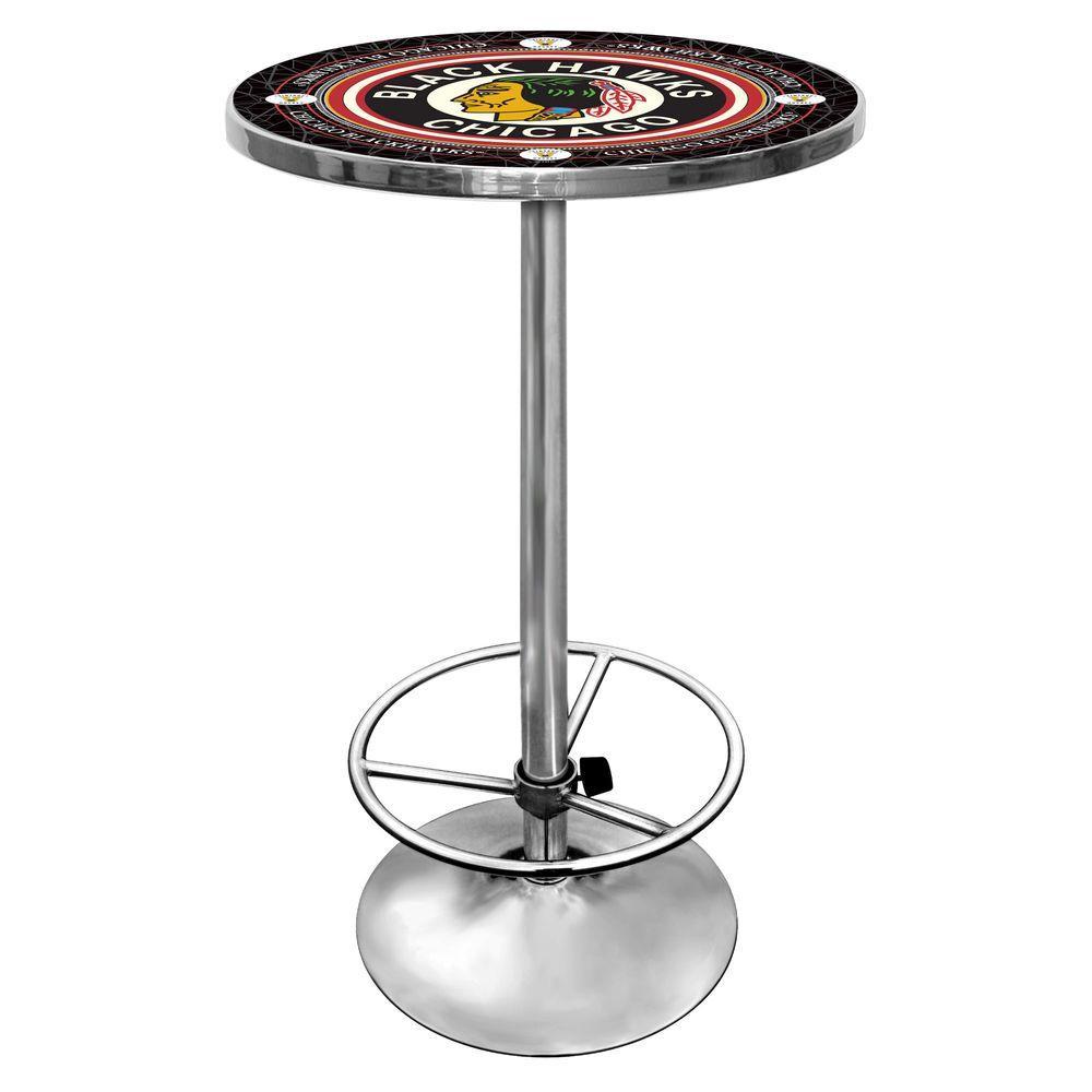 NHL Vintage Chicago Blackhawks Chrome Pub/Bar Table