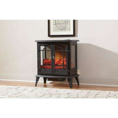 Legacy 1,000 sq. ft. Panoramic Infrared Electric Stove in Black