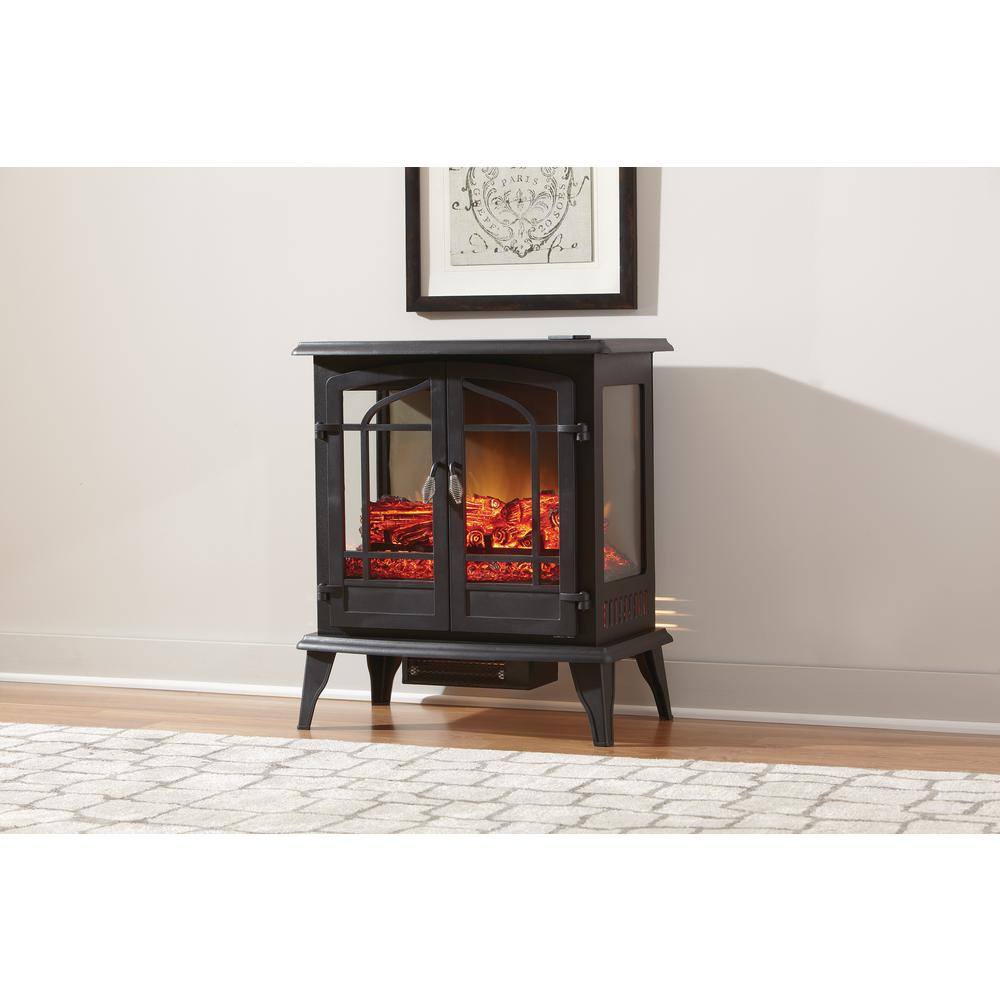 StyleWell Legacy 1,000 sq. ft. Panoramic Infrared Electric Stove in Black