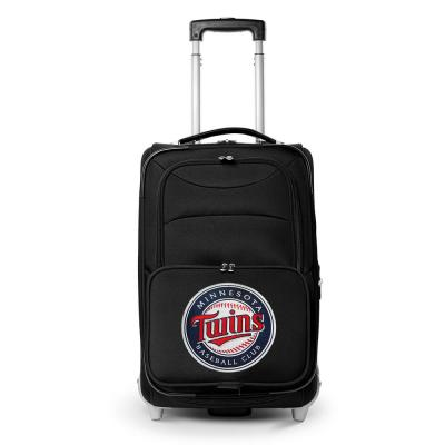 MLB Minnesota Twins  21 in. Black Carry-On Rolling Softside Suitcase