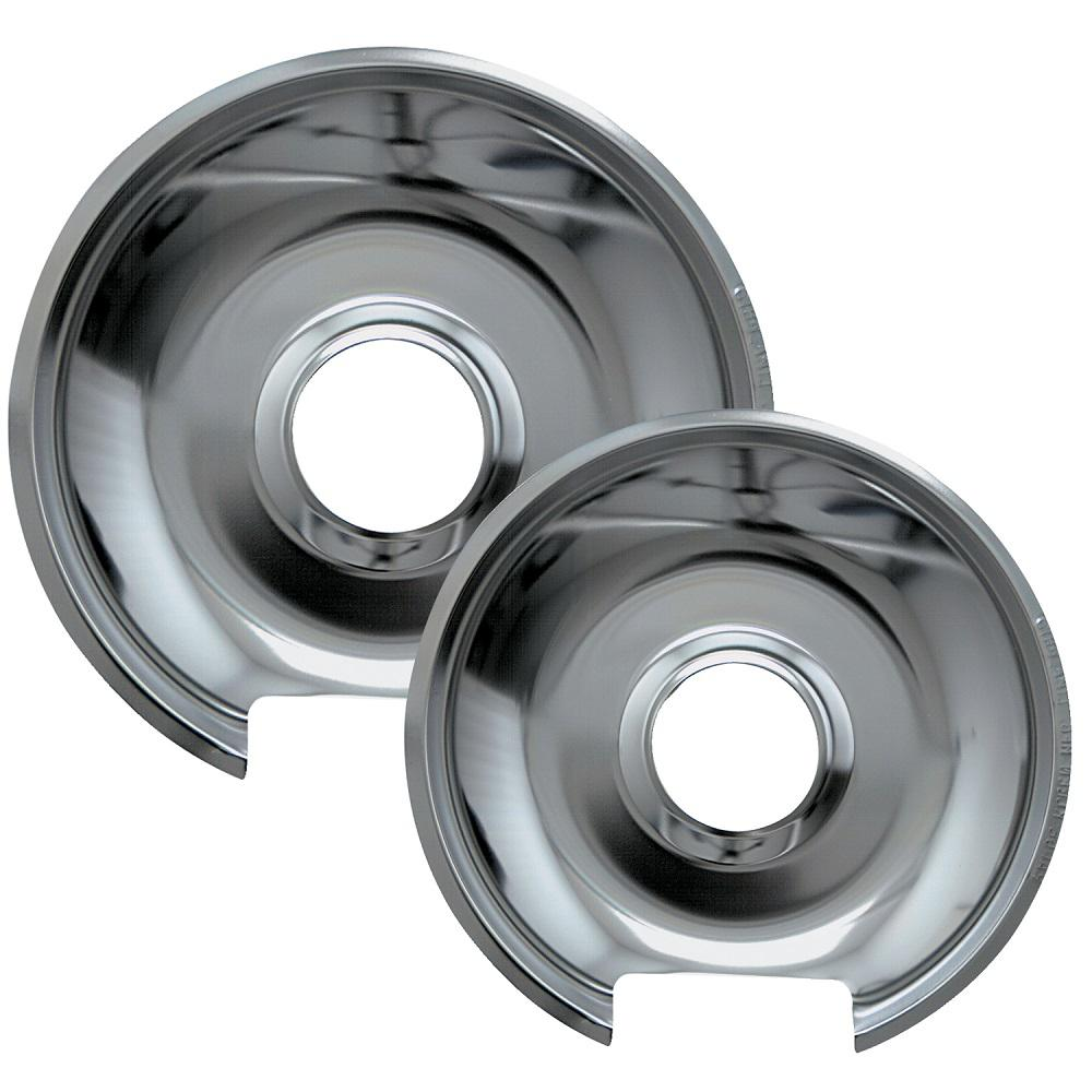 Range Kleen 6 In Small And 8 In Large Drip Pan In Chrome