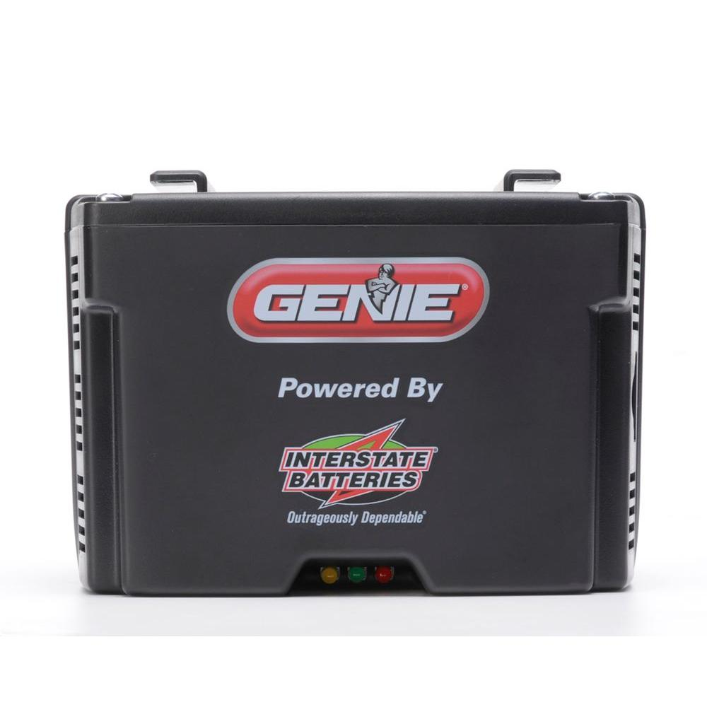 Genie revolution series garage door opener battery back up for Genie garage door