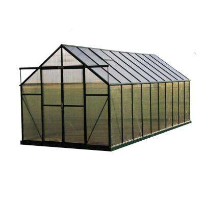 Ascent 8 ft. W x 20 ft. D x 8 ft. H Heavy-Duty Aluminum Greenhouse Kit